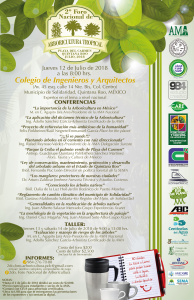Segundo Foro Nacional de Arboricultura Tropical – Julio 2018, Quintana Roo