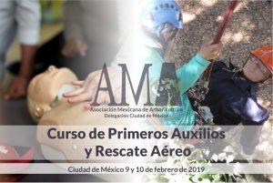 Curso de Primeros Auxilios y Rescate Aéreo – febrero 2019, CDMX