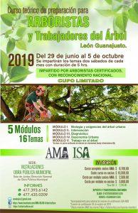 Curso teórico de preparación para Arboristas y Trabajadores del Árbol – junio a octubre 2019, León