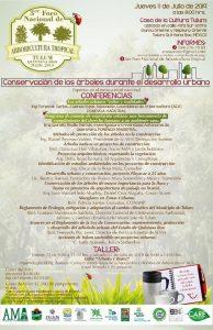 Tercer Foro Nacional de Arboricultura Tropical – julio 2019